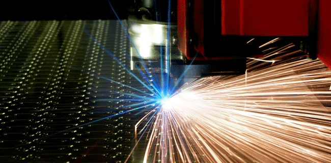 Materials manufacturing machinery and sparks