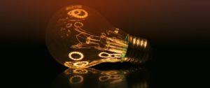 Illuminated light bulb representing grant funding may 2018